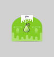 pear sticker and eco products web element vector image vector image