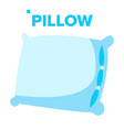 pillow healthy sleep rest symbol vector image