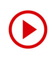 play video button icon in two color design style vector image vector image