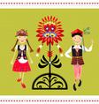 Polish Folk Costume vector image