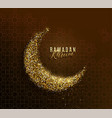 ramadan kareem greeting concept islamic crescent vector image vector image