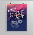 rave party music flyer template vector image