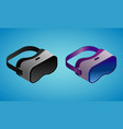 realistic virtual reality glasses in isometry vector image vector image