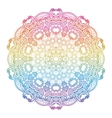 Round rainbow mandala background vector image vector image