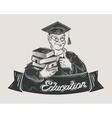 school college university logo design vector image vector image