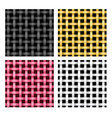 seamless weave rattan pattern vector image vector image
