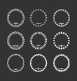 Set icons of laurel wreath and modern frames vector image