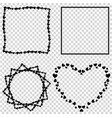 set of cute black love hearts borders for vector image