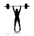 silhouette of the weightlifter vector image vector image