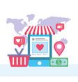 smartphone website information and marketing vector image vector image