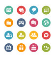 social communications icons - fresh colors series vector image