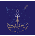 Space Rocket Line Style Design vector image