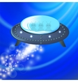 Spaceship Isolated on Blue Background vector image vector image