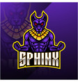 sphinx sport mascot logo design vector image vector image