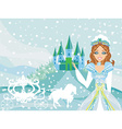 The beautiful princess is waiting for carriage vector image vector image