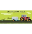 Tractor handles field of weeds and parasites vector image vector image