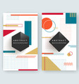two abstract retro vertical banners vector image vector image