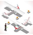 Ultralight Isometric Airplane vector image vector image