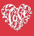 vintage paper cut love swirl flourish heart vector image vector image