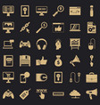 web page icons set simple style vector image vector image