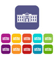 white house usa icons set vector image vector image