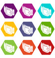woman belt icons set 9 vector image vector image