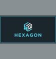 xw hexagon logo design inspiration vector image vector image