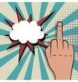 middle finger comic retro pop art vector image