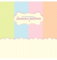 Horizontal seamless patterns in pastel colors vector image