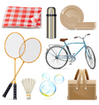 Picnic Icons vector image