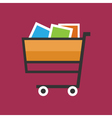 Cart Isolated on Pink Background vector image