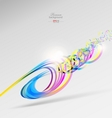 Abstract color ribbons background vector image