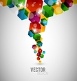 Abstract hexagon design vector image