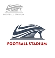 Abstract modern sports stadium icon vector image vector image