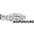 acupuncture can help treat migraines text word vector image vector image