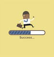 african businessman run on progress loading bar vector image vector image