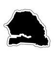 black silhouette of the country senegal with the vector image