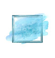 blue watercolor grunge frame vector image