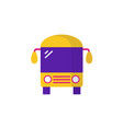 bus icon flat bus icon for vector image vector image