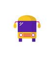 bus icon flat icon vector image vector image