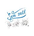 calligraphic lettering sea salt powdered powder vector image vector image