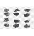 chaotic black scribble set vector image vector image