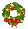 Christmas festive decorative wreath vector image vector image