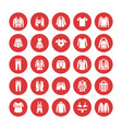 clothing fasion flat glyph icons mens womens vector image