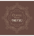 Coffee Retro Design wit florish border vector image
