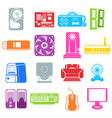 computer component icons vector image