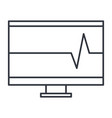 computer display with cardiology app vector image vector image