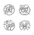 court and law lawyer service and justice icons vector image vector image