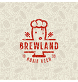 Craft beer brewery seamless pattern and emblem vector image vector image