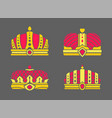 crowns collection in color vector image vector image